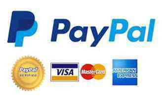 PayPal Logo Banner with credit card images